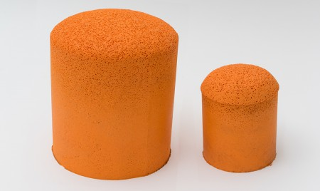 Sponge balls for cleaning cement