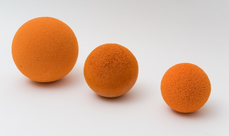 Sponge balls for cleaning cement pipes