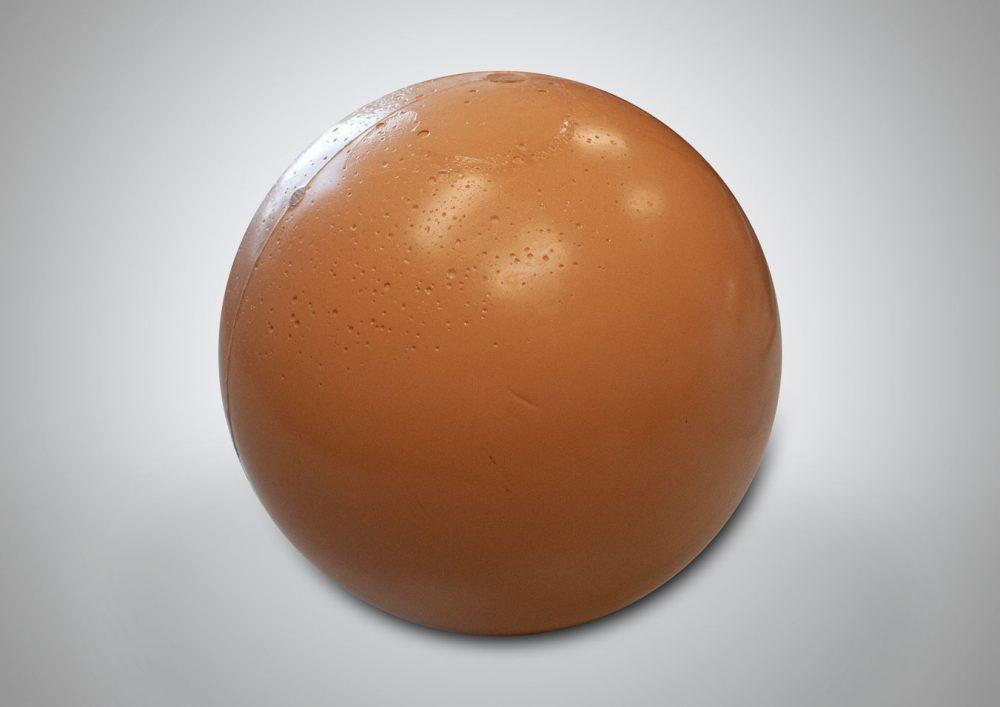 Rubber valve sealing ball