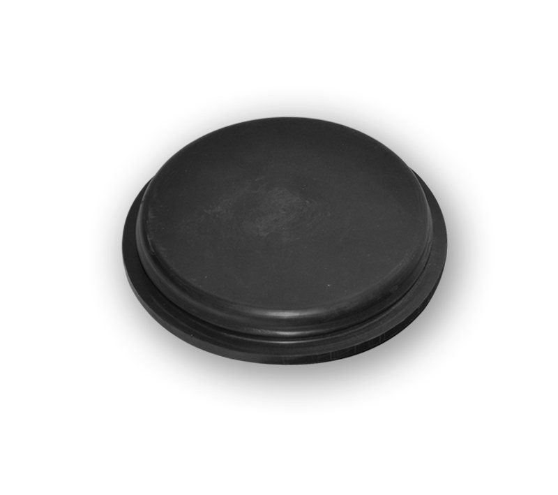 Rubber inspection caps in natural rubber